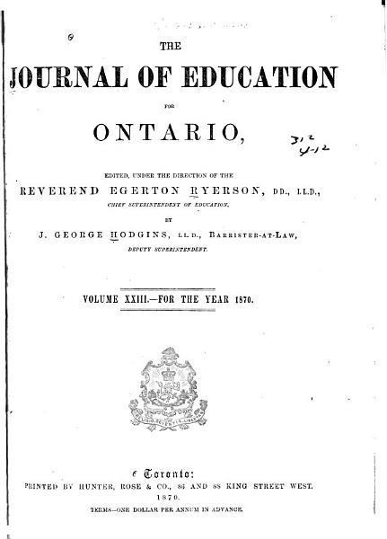 Download The Journal of Education for Ontario Book