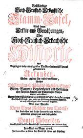 Historie und Stamm-Tafel des Hoch-Gräflichen Hauses Erbach