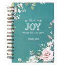Journal Wirebound Large That Joy May Be in You   John 15 11
