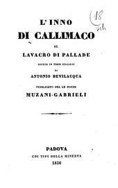 L'inno di Callimaco al lavacro di Pallade recato in versi italiani da Antonio Bevilacqua