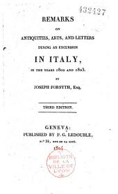 Remarks on antiquities, arts and letters: during an excursion in Italy in the years 1802 and 1803