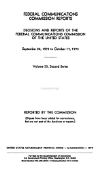 Federal Communications Commission Reports  Decisions and Reports of the Federal Communications Commission of the United States PDF