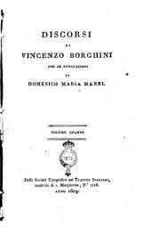 Discorsi di Vincenzo Borghini Con le Annotazioni di Domenico Maria Manni
