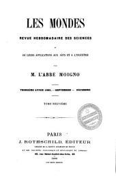 Les Mondes: revue hebdomadaire des sciences et leurs applications aux arts et à l'industrie, Volume9