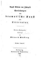 Vorlesungen über dramatische Kunst und Litteratur: Bände 1-2