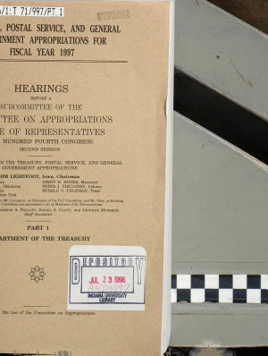 Treasury  Postal Service  and General Government Appropriations for Fiscal Year 1997