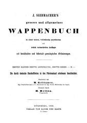 Hoher Adel Deutschlands: Band 1,Ausgabe 3,Teil 3