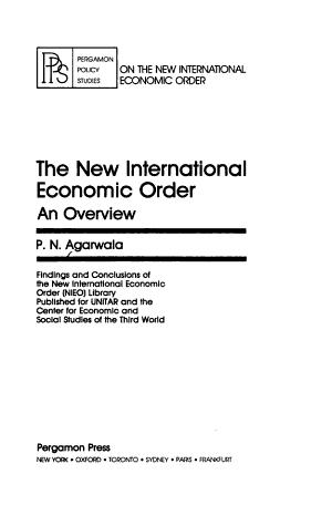The New International Economic Order