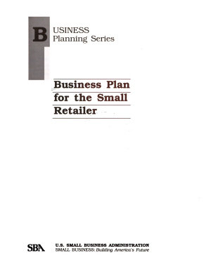Business Plan for the Small Retailer PDF