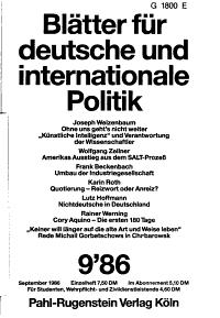 Bl  tter f  r deutsche und internationale Politik PDF