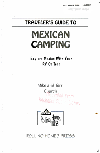 Traveler s Guide to Mexican Camping Book