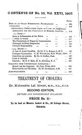 The Calcutta Journal of Medicine: A Monthly Record of the Medical Auxiliary Sciences, Volume 26, Issue 10