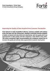 Improving the Quality of Data Acquired from Customer Touchpoints