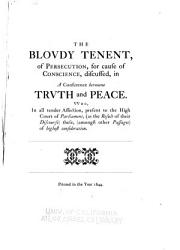 The Bloudy Tenent Of Persecution Book PDF