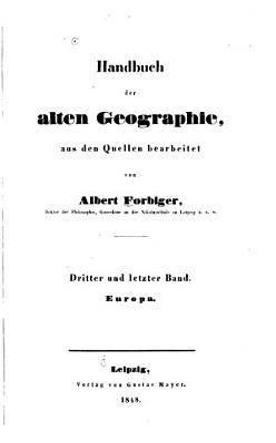 Handbuch Der Alten Geographie