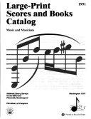 Large print Scores and Books Catalog PDF
