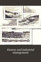 Factory and Industrial Management PDF