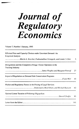 Journal of regulatory economics PDF