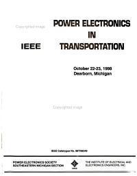 Power Electronics in Transportation PDF