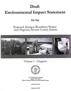 Proposed Abengoa Biorefinery Project Near Hugoton, Stevens County