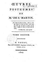 Oeuvres posthumes de Mr de St Martin: Volume1