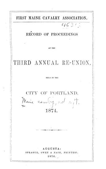 Record of Proceedings at the Annual Re union PDF