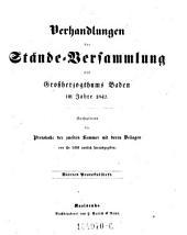 Verhandlungen der Stände-Versammlung des Großherzogthums Baden ; Enthaltend die Protokolle der (beiden Kammern) mit deren Beilagen: Seite 4