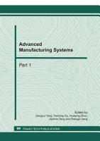 Advanced Manufacturing Systems  ICMSE 2011 PDF
