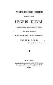 Notice historique sur l'abbé Legris Duval