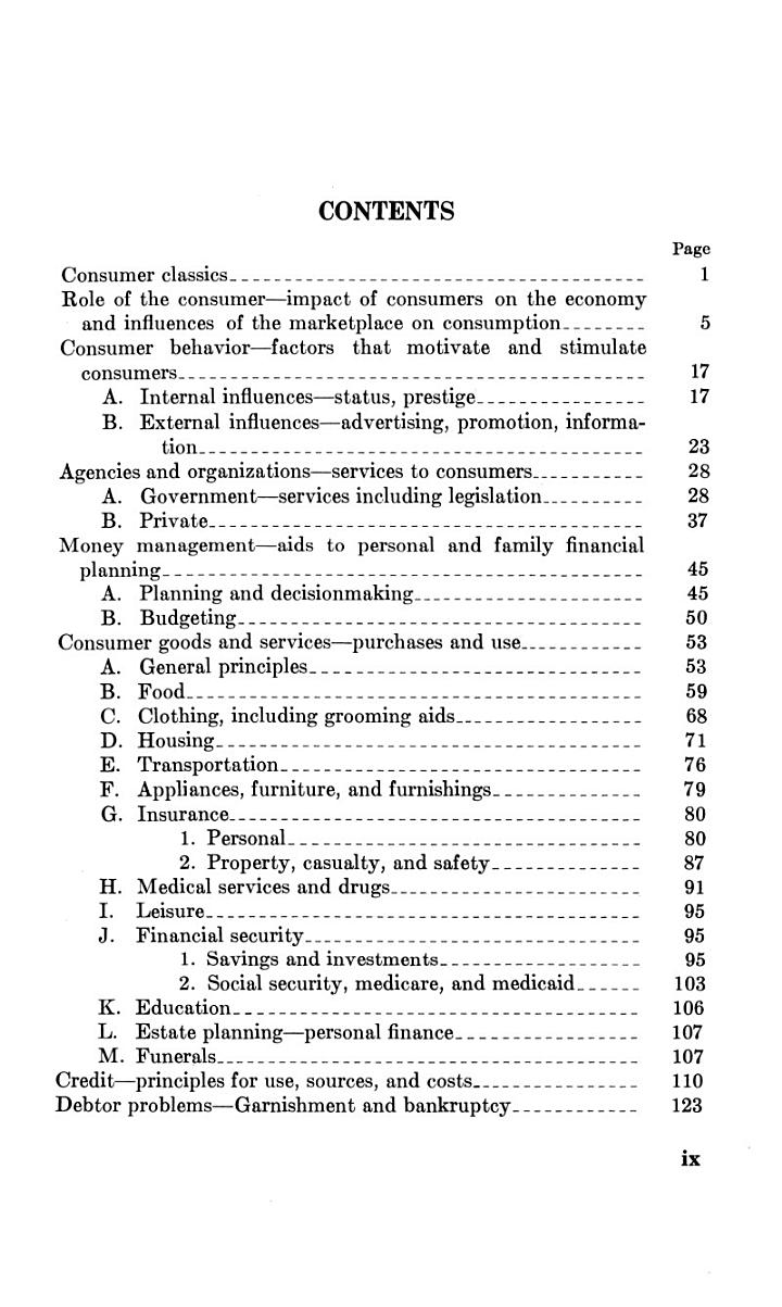 Consumer Education Bibliography