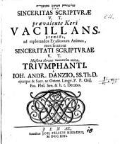 Sel ̄em ̄ut hak-ket ̄ib mesuppeget sive Sinceritas Scripturae V. T. praevalente Keri Vacillans