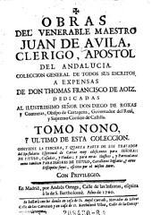 Obras del Venerable Maestro Juan de Avila