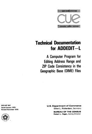 Technical Documentation for ADDEDIT L PDF