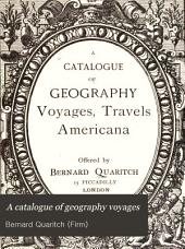A Catalogue of Geography Voyages: Travels Americana