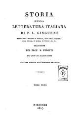 Storia della letteratura italiana di P.L. Ginguené ... Traduzione del prof. B. Perotti con note ed illustrazioni. Tomo primo [-duodecimo]: 9