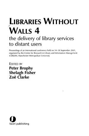 Libraries Without Walls 4 PDF