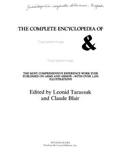 The Complete Encyclopedia of Arms   Weapons PDF