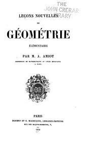 Leçons nouvelles de géométrie élémentaire