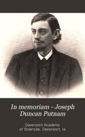 In Memoriam - Joseph Duncan Putnam