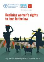Realizing women s rights to land in the law PDF