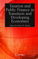 Taxation and Public Finance in Transition and Developing Economies PDF