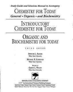 Chemistry for Today General Organic A Book