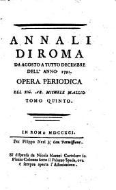 Annali di Roma ...: opera periodica, Volume 5