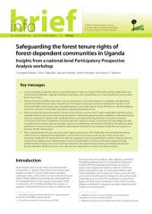 Safeguarding the forest tenure rights of forest-dependent communities in Uganda: Insights from a national-level Participatory Prospective Analysis workshop