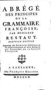 Abrégé des principes de la grammaire françoise