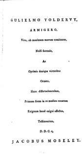 Dissertatio medica inauguralis de peripneumonia vera: Volume 9