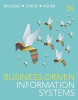 Business Driven Information Systems  3rd Edition PDF