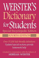 Webster s Dictionary for Students  Special Encyclopedic Edition