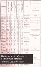 Dictionnaire de pédagogie et d'instruction primaire: Partie1,Volume1