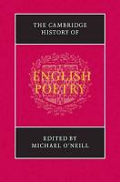 The Cambridge History of English Poetry PDF